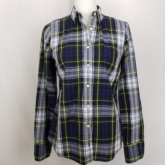 J. Crew Tops - J.Crew Perfect Tartan Button Down